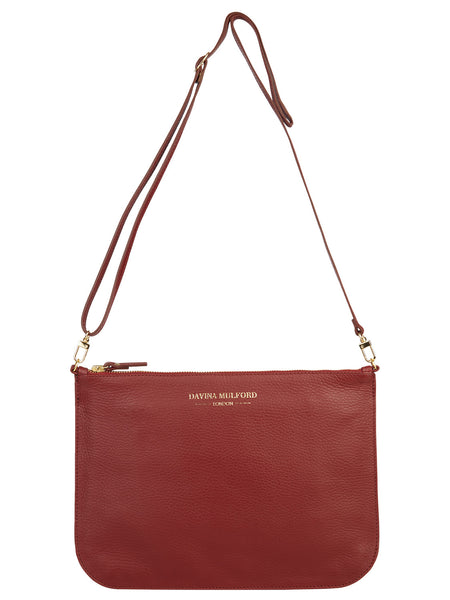 Essential Cross Body Bag - Burgundy