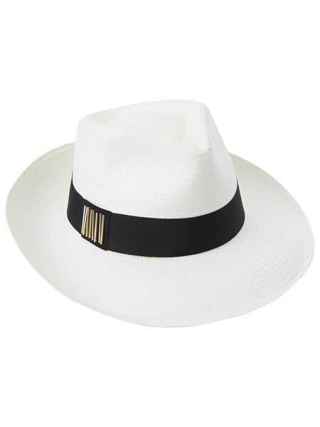 Panama Trilby with beaded black band