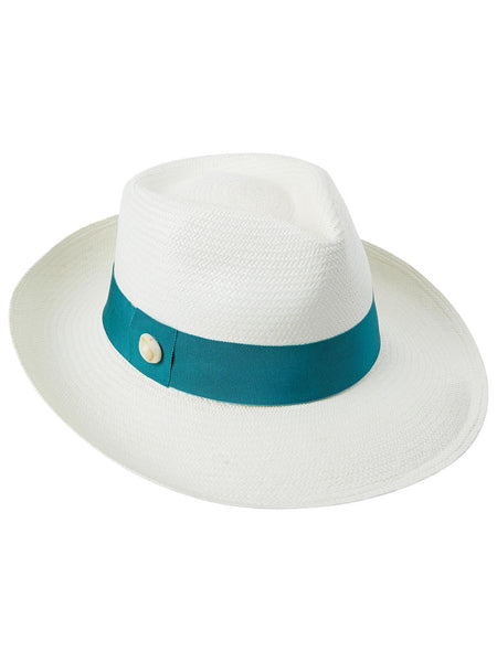 Panama Trilby with petrol band and shell