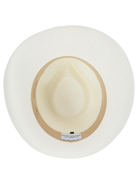 Panama Trilby with faux leather studded braid