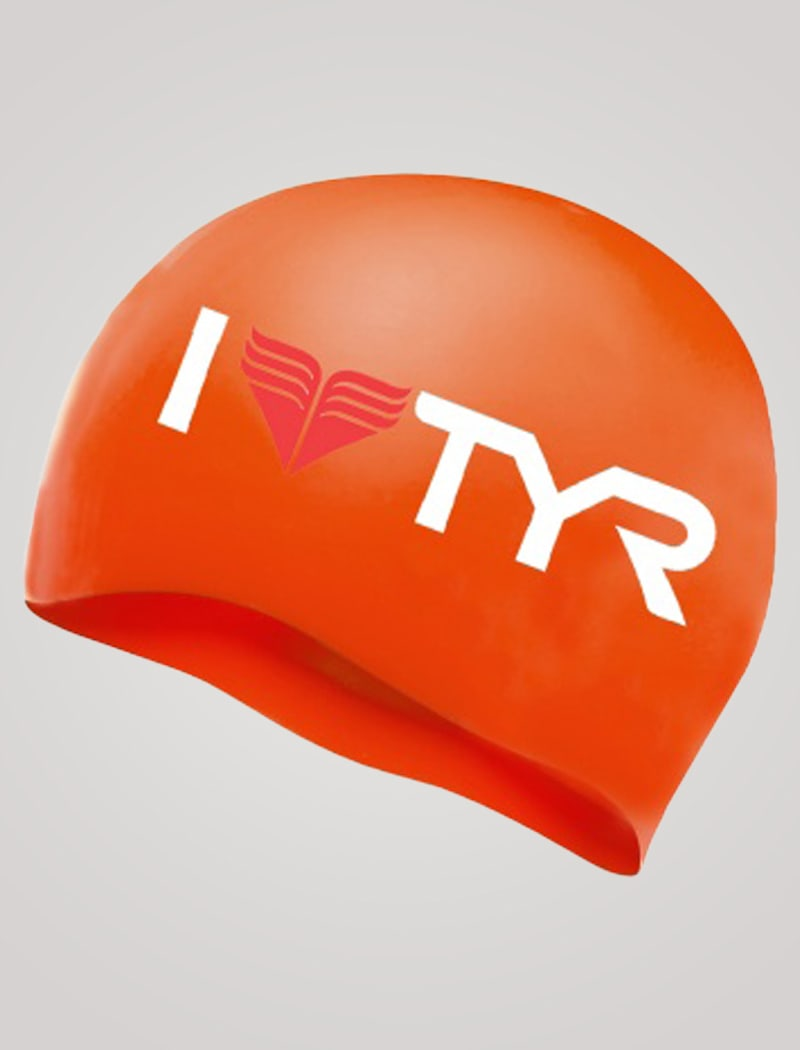 Image of   TYR I Love Silicone Cap - Orange