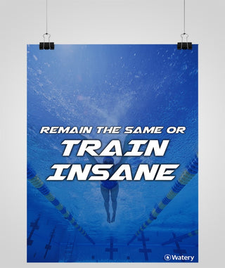 Remain The Same Or Train Insane - Svømmeplakater -  Watery.dk