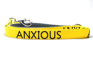 "Dog Lead ""ANXIOUS"" - Medium/Large"