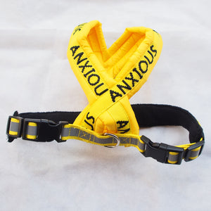 "Adjustable Non-pull Padded Harness ""ANXIOUS"" - Small"