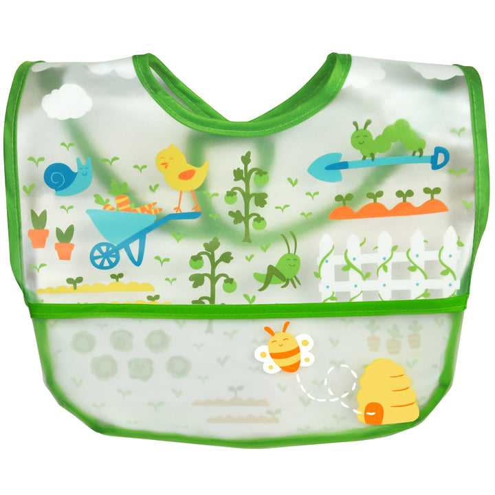 Wipe-off Bib - Green Garden (9-18 Months)