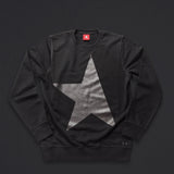 14th women's TITOS crewneck black/black large star logo front