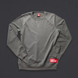 15th wmn's TITOS crewneck pewter/red small 3 star logo