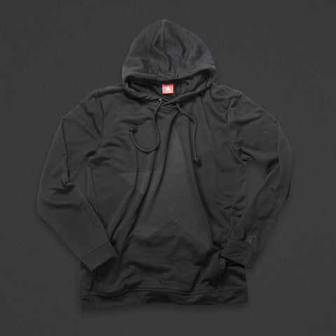 9th TITOS hoodie black/black with large star logo