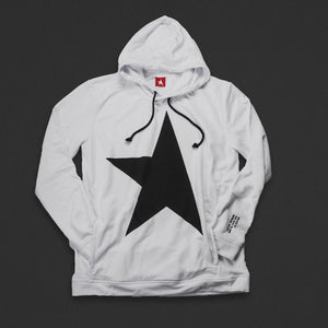 9th TITOS hoodie white/black with large star logo