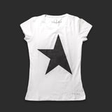 First women's T-shirt white/black TITOS star logo