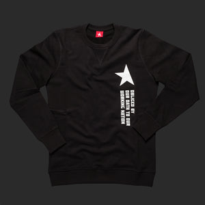 10th Titos crewneck black white