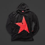9th TITOS hoodie black/red with large star logo
