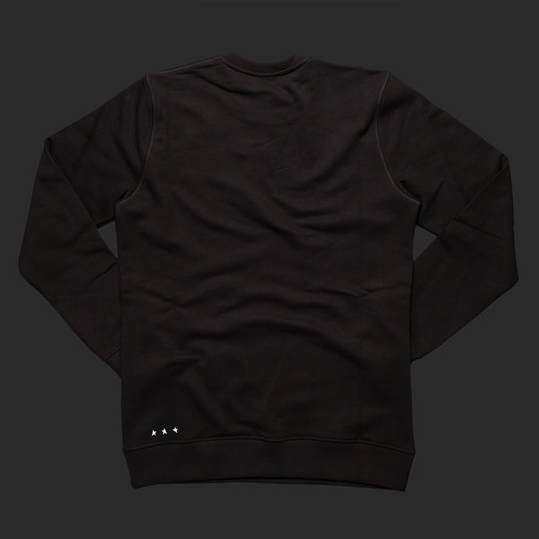 10th Titos crewneck black white back
