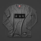 13th long sleeve TITOS T-shirt pewter/black 3 star logo
