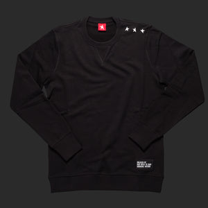 11th TITOS crewneck black/white small 3 star logo