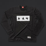 13th long sleeve TITOS T-shirt black/white 3 star logo