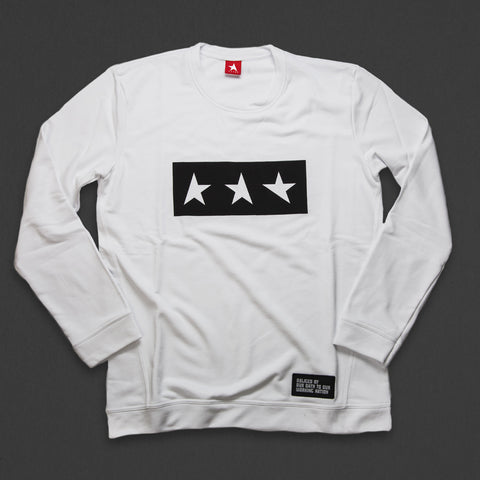 13th long sleeve TITOS T-shirt white/black 3 star logo