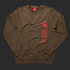 10th TITOS crewneck olive red