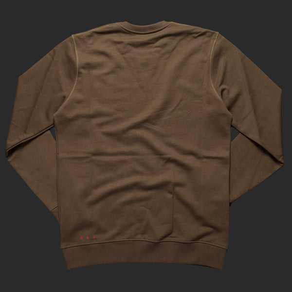 10th TITOS crewneck olive red back