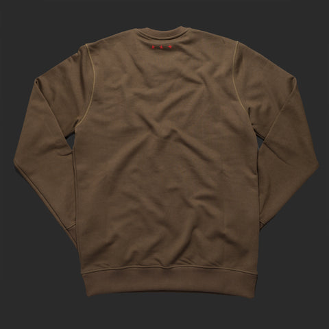 12th TITOS crewneck olive/red letter chest logo