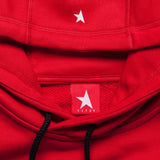 8th TITOS hoodie red/white with star + letters logo