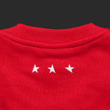 12th TITOS crewneck red/white letter chest logo