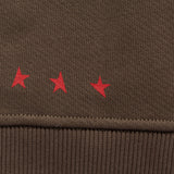 10th TITOS crewneck olive red details