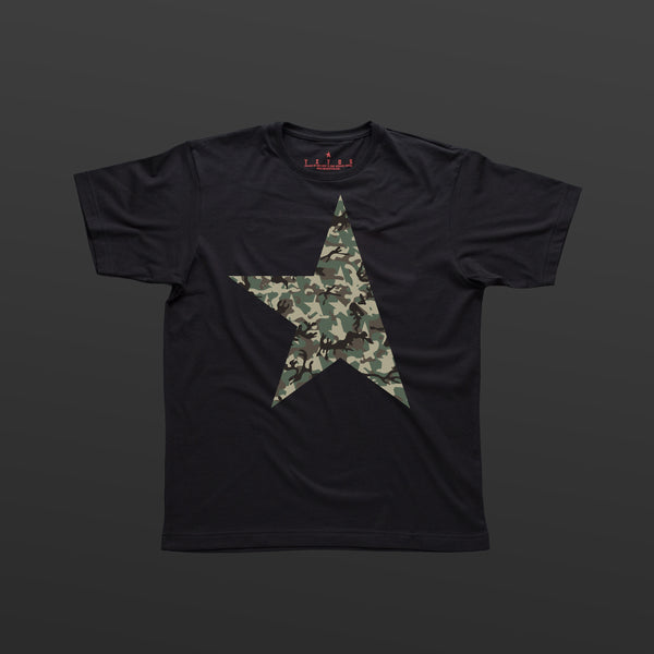 First T-shirt black/camo TITOS star logo