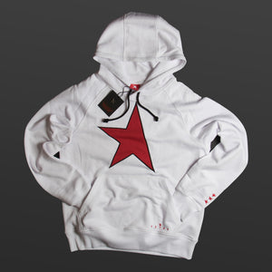 Fifth hoodie white/red TITOS star logo