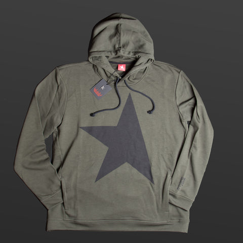 9th TITOS hoodie dark olive/black with large star