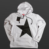 9th TITOS womens hoodie white/shiny black with star