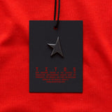 First women's T-shirt red/white TITOS star logo