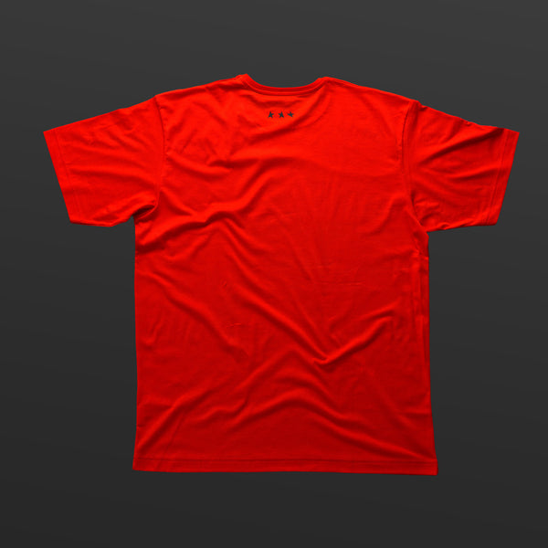 Third T-shirt red/black TITOS block logo