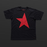 First T-shirt black/red TITOS star logo