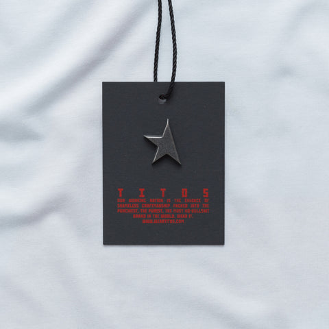 First T-shirt white/camo TITOS star logo