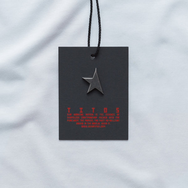 First T-shirt white/red TITOS star logo