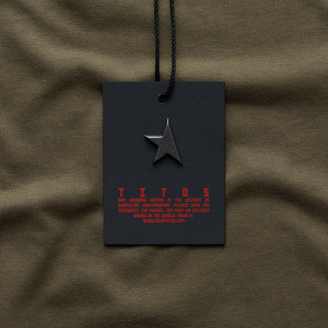 TITOS 17th t-shirt olive/red small star logo