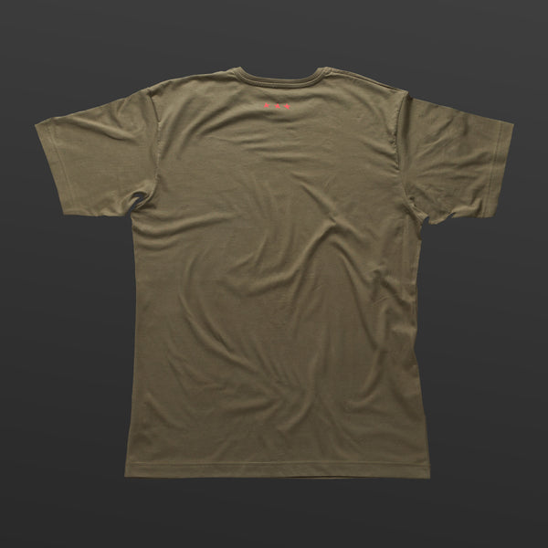 First T-shirt olive/red TITOS star logo
