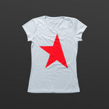 First women's T-shirt white/red TITOS star logo