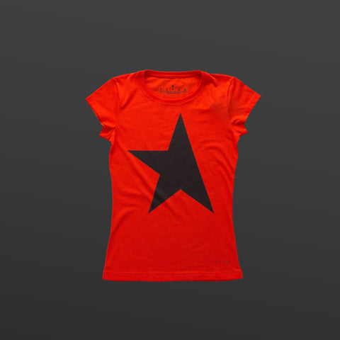 First women's T-shirt red/black TITOS star logo