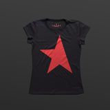 First women's T-shirt black/red TITOS star logo