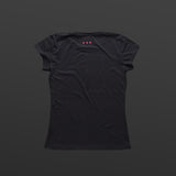 Third women's T-shirt black/red TITOS block logo