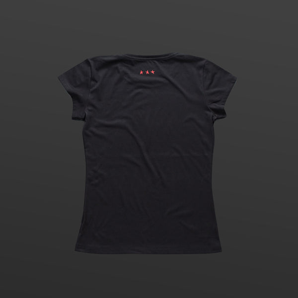 Third women's T-shirt black/black TITOS block logo