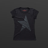First women's T-shirt black/black TITOS star logo