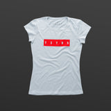 Third women's T-shirt white/red TITOS block logo