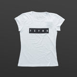 Third women's T-shirt white/black TITOS block logo