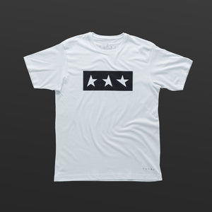 Fourth T-shirt white/black TITOS 3 star block logo