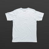 Third T-shirt white/black TITOS block logo