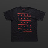 Second T-shirt black/red TITOS 5X5 letters