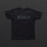 Third T-shirt black/black TITOS block logo